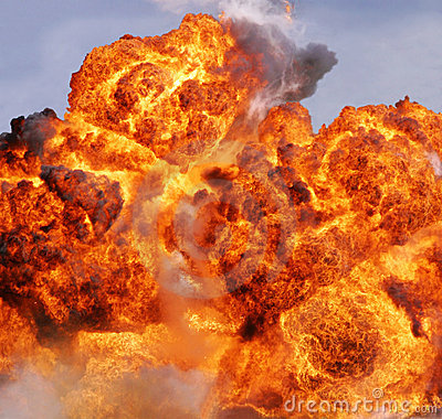 Free Explosion Flame Stock Photography - 13457452
