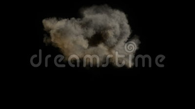 Explosion. Isolated on black, ready for compositing, with alpha stock footage