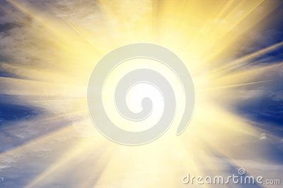 Explosion of light towards heaven, sun. Religion