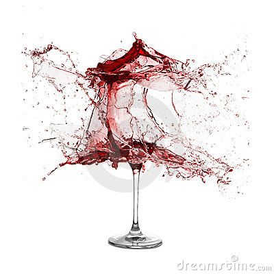 Free Explosion Of A Glass With Red Wine Royalty Free Stock Photos - 14535808