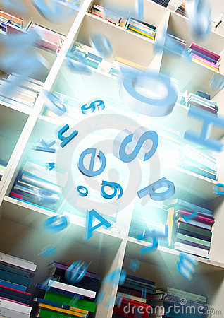Free Explosion Of Information Library Stock Image - 17418551