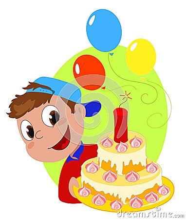 Explosive birthday cake
