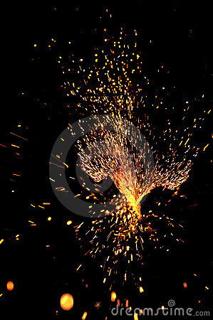Free Explosive Sparks Stock Images - 12193514