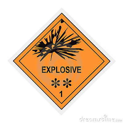 Explosive Warning Label
