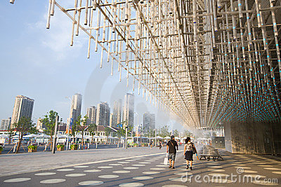 Expo 2010 Shanghai-Shanghai corporation Pavilion Editorial Stock Photo