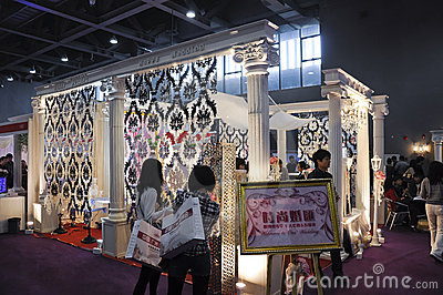 Expo 2011 de la boda de China del resorte (Guangzhou) Foto editorial