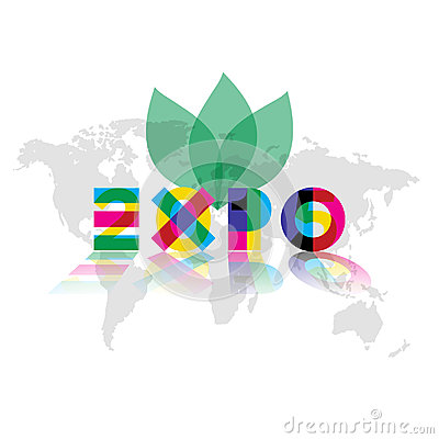 Free Expo 2015 Reflected Royalty Free Stock Image - 54038926