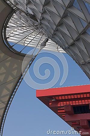 Expo Axis and China Pavillion Editorial Photo