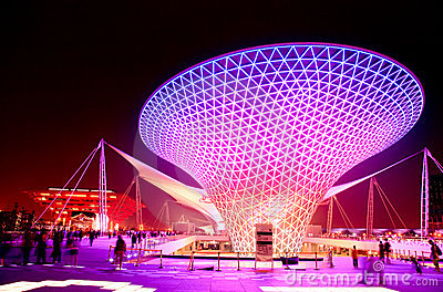 The Expo Boulevard at World Expo in Shanghai Editorial Image