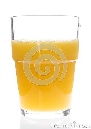 Exponeringsglas av orange fruktsaft