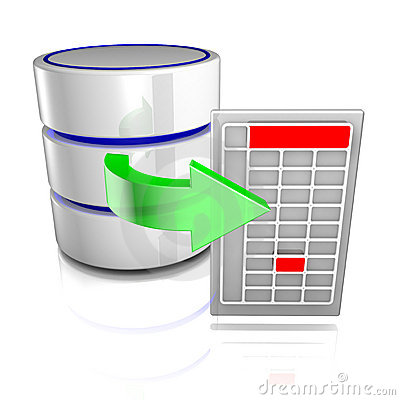 Free Export Data From A Database Royalty Free Stock Photo - 16876735