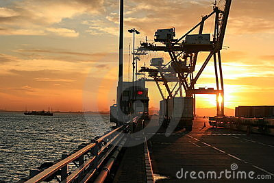 Export Import activities at International Harbour