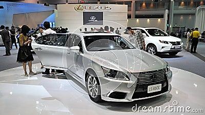 Exposição automóvel em Banguecoque Foto de Stock Editorial