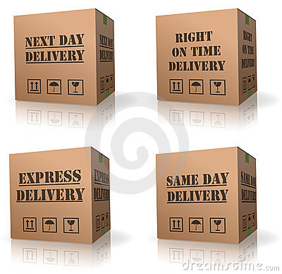 Expres delivery shipment cardboard box  shipping