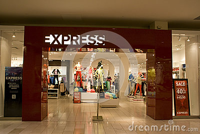 Express store Editorial Stock Image