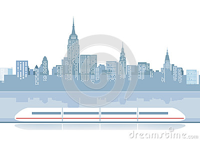 Express train illustration