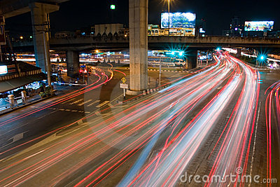 Express way in the night