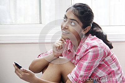 Expression of Beautiful indian girl indoor