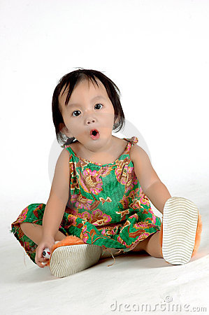 expression of a little girl