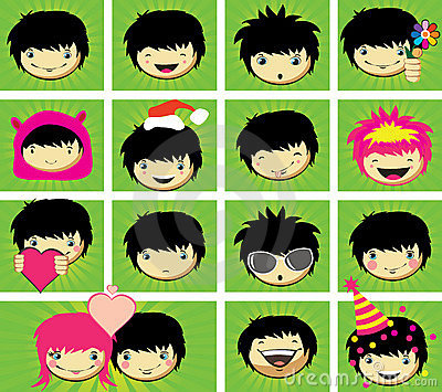 Expressions of  boy