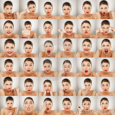 Free Expressions Collage Stock Photography - 22958352