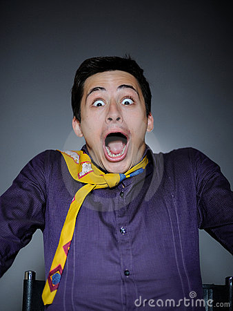 Free Expressions. Man Feeling Fear And Shock Royalty Free Stock Photography - 15884357