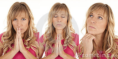 Expressions pink pray