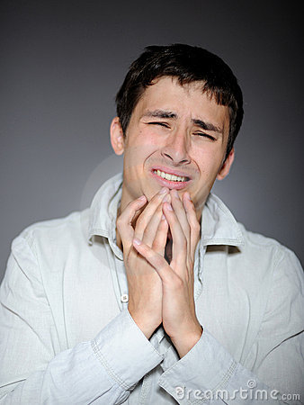 Free Expressions.young Man Feeling Fear And Crying Royalty Free Stock Photo - 15884425