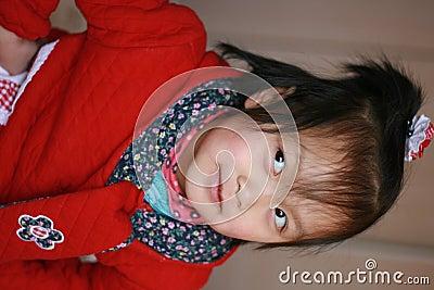 Expressive Asia child