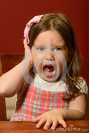 Free Expressive Beautiful Little Girl Playing Stock Photos - 66401513