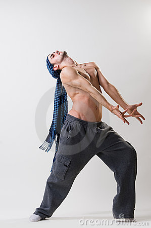 Expressive dancer exercising