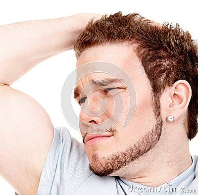 Expressive man headshot