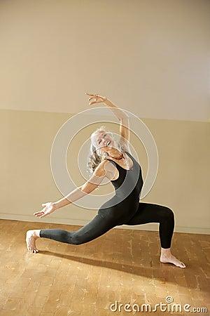 Expressive Senior Yoga Woman