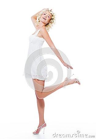 Expressive sensuality beautiful woman