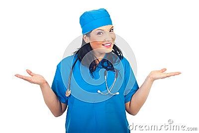 Expressive surgeon woman