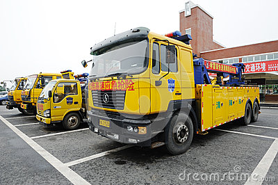 Expressway emergency rescue vehicles Editorial Stock Photo