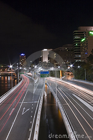Expressway tail lights brisbane
