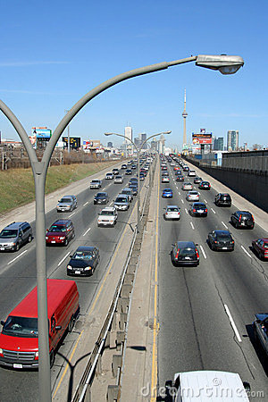 Expressway traffic Toronto Editorial Stock Photo