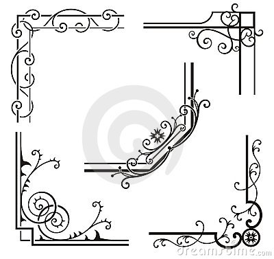 Exquisite Corner Ornamental Designs