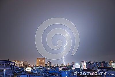 Exquisite Lightning over Hanoi