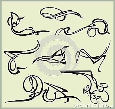 Exquisite Scroll Ornamental Designs