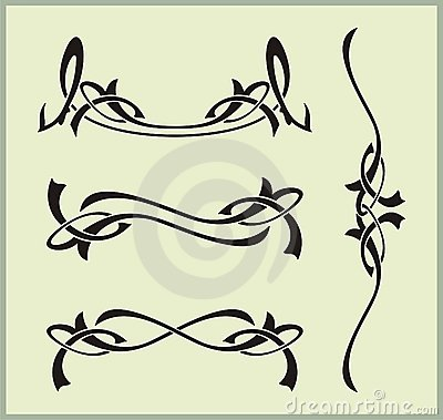 Exquisite Scroll Ornamental Designs