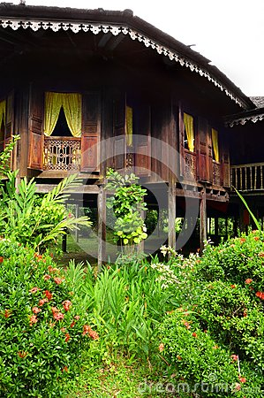 Exterior of antique Ethnic Malay house
