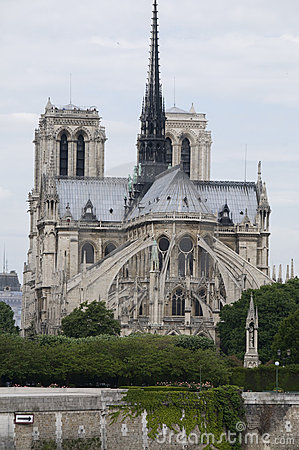 Exterior apse notre dame cathedral paris france