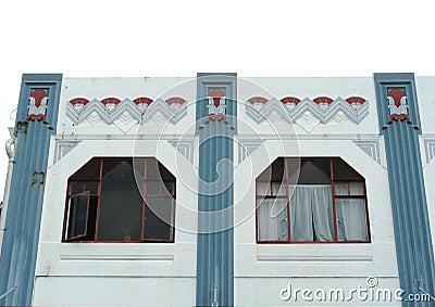 Exterior of an Art-Deco building