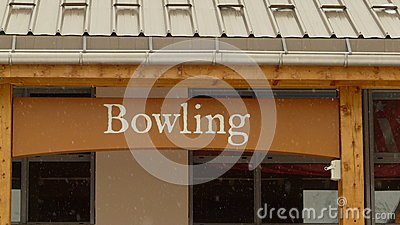 The exterior of a bowling alley