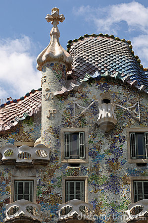 Exterior of Casa Batllo in Barcelona, Spain