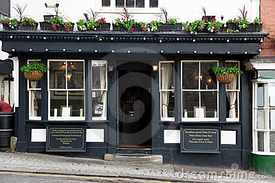Exterior classic old Pub in London