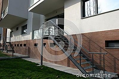 Exterior da escada