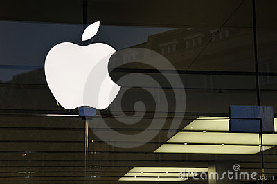 Exterior Detail of an Apple Store Editorial Photo